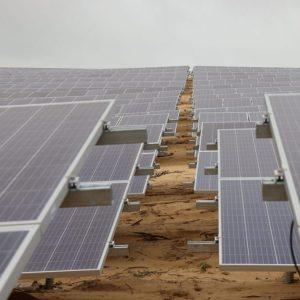 Một góc dự án nhà máy điện năng lượng mặt trời Fujiwara