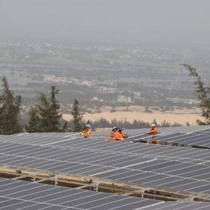 Nơi công trường nhà máy điện mặt trời Hồng Phong 4