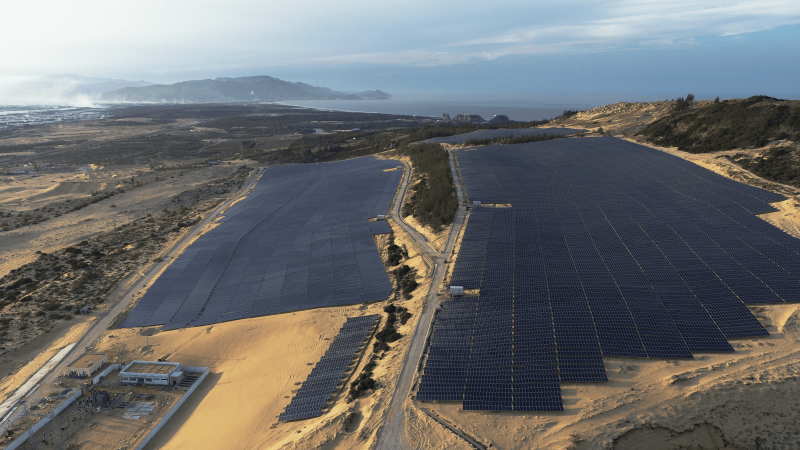 nhà máy điện năng lương mặt trời fujiwara Bình Định