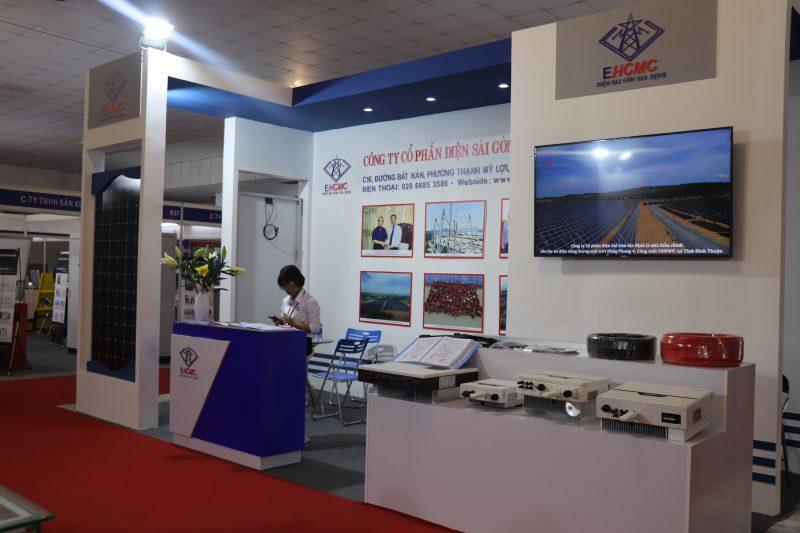 Gian hàng của Công ty Cổ phần điện Sài Gòn Gia Định tại triển lãm Quốc tế