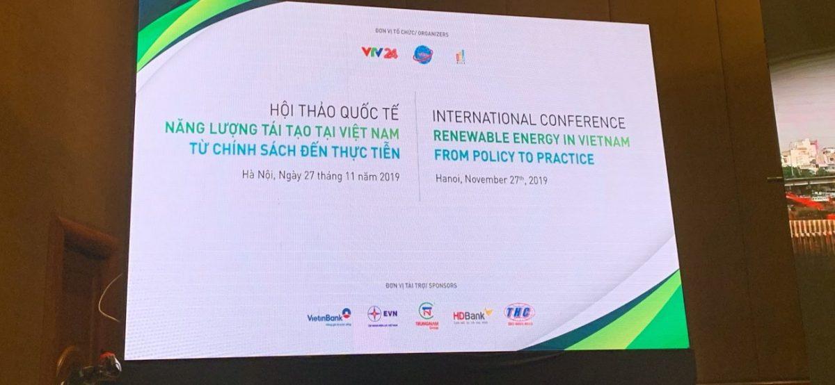 Hội thảo Quốc tế năng lượng tái tạo Việt Nam, từ chính sách đến thực tiễn