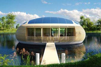 Ngôi nhà nổi thân thiện với môi trường khi sử dụng điện sạch