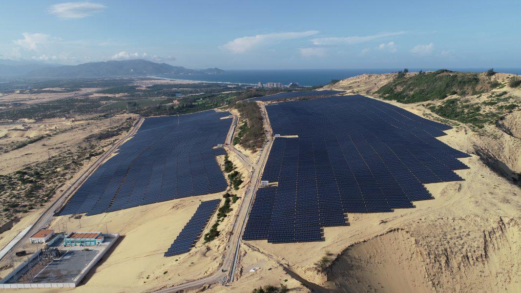 Toàn cảnh nhà máy điện năng lượng mặt trời Fujiwara Bình Định