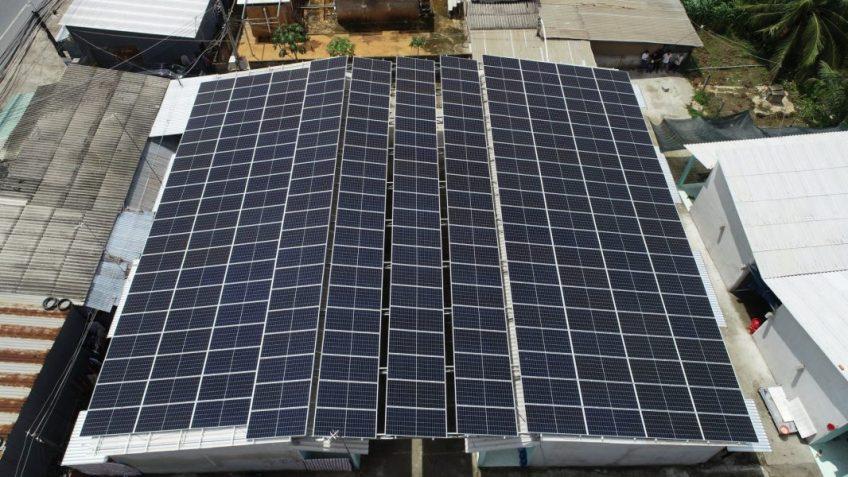Áp mái điện mặt trời HTX nông nghiệp KD tổng hợp Bình Tây