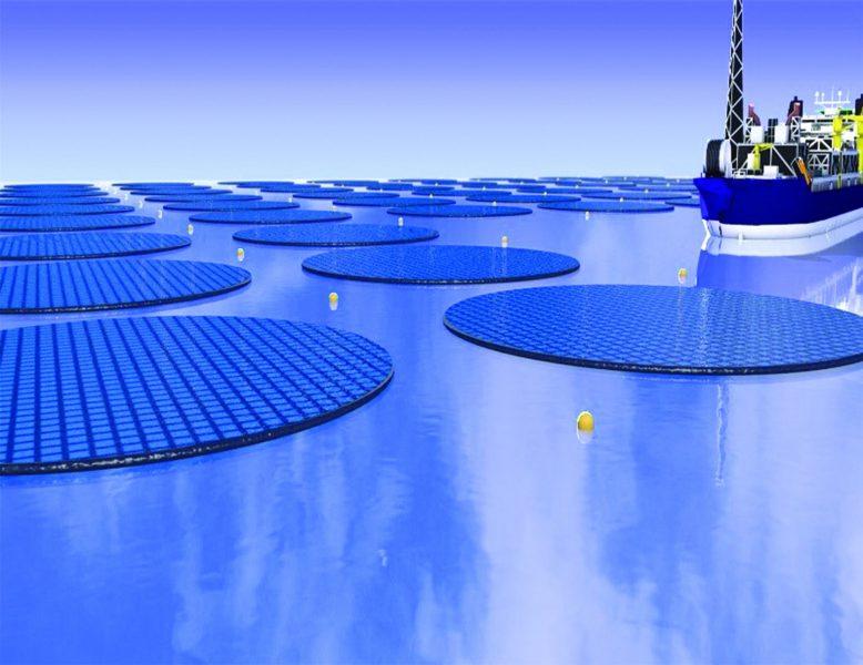 Xây dựng trang trại năng lượng mặt trời nổi để sản xuất nhiên liệu quy mô lớn